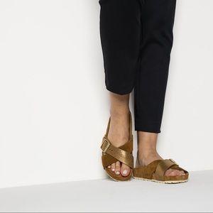 Birkenstock Suede Gold Siena Allover Mink Sandals